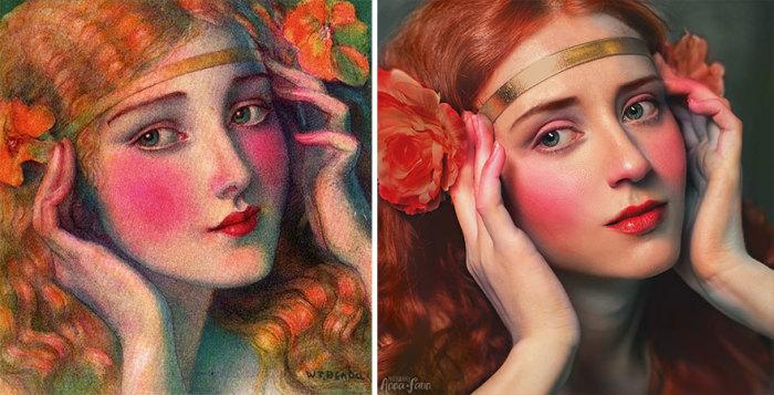 Яркая иллюстрация с девушкой польско-американского художника Владислава Теодора Бенды, 1924 год.
