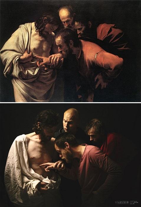 Картина итальянского художника Караваджо под названием «Неверие апостола Фомы», 1601 г. – 1602 г.