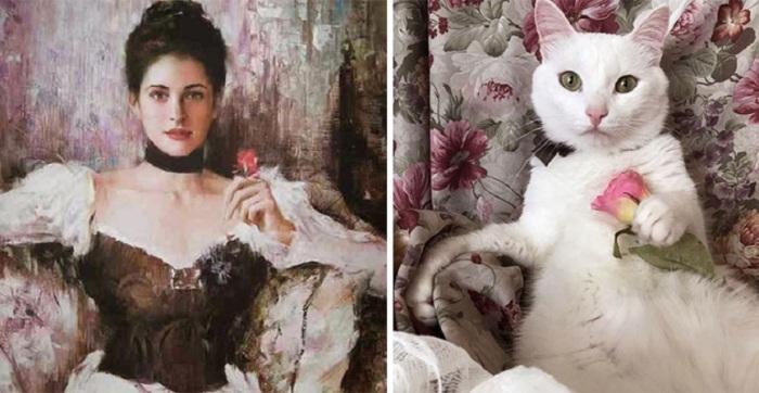 Романтическая и нежная женщина на картине китайского художника-реалиста Ан Хи.