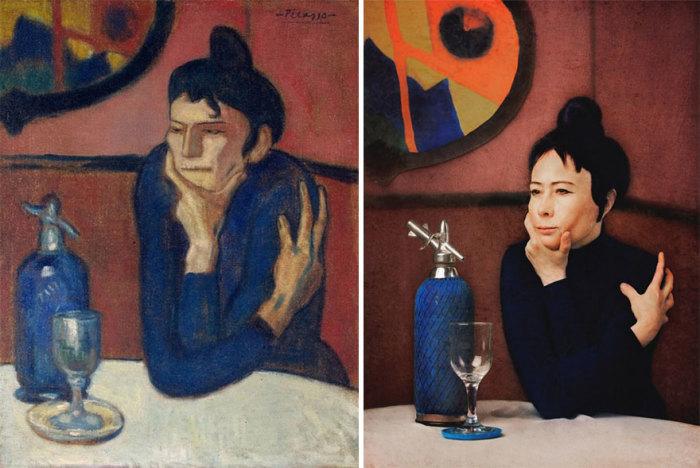 Драматическая картина испанско-французского художника Пабло Пикассо «Любительница абсента», 1901 год.