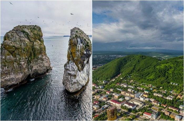 Город назван в честь кораблей «Святой апостол Пётр» и «Святой апостол Павел».