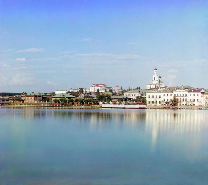 Вид на Екатеринбург от дачи Начальника Горного Округа.