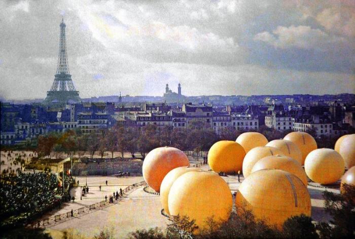 Выставка воздухоплавания в Grand Palais, Париж, 20 сентября 1909 года.
