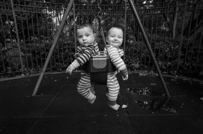 Семимесячные близнецы из Нью-Йорка.