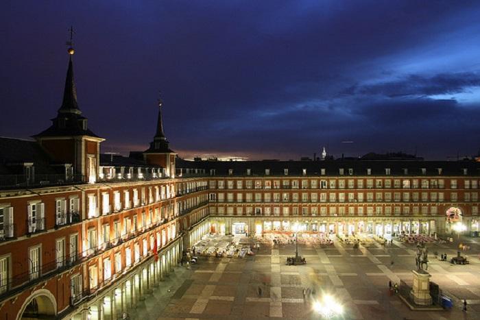 Самое оживленное место в Мадриде.