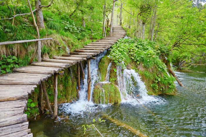 Деревянный мостик, ведущий через самые живописные уголки парка.