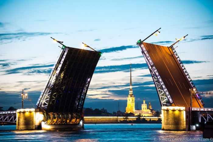Красота вида Санкт-Петербурга.