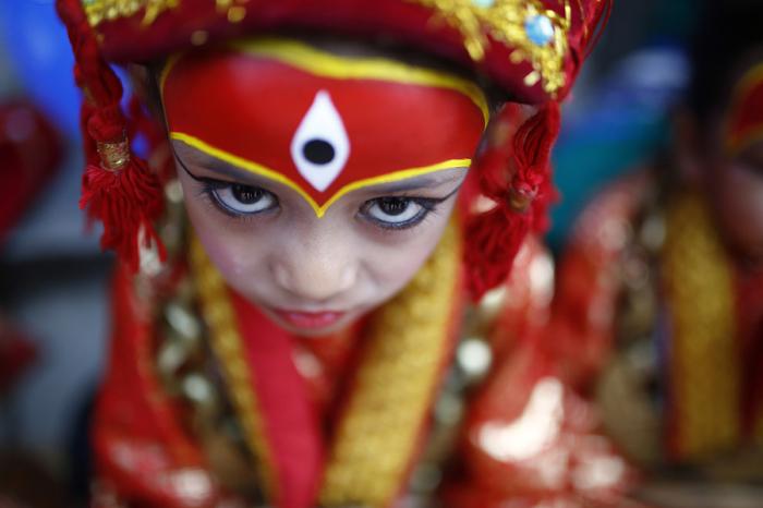 Живое индуистское божество в Непале. Автор фотографии: Сканда Гаутам (Skanda Gautam).