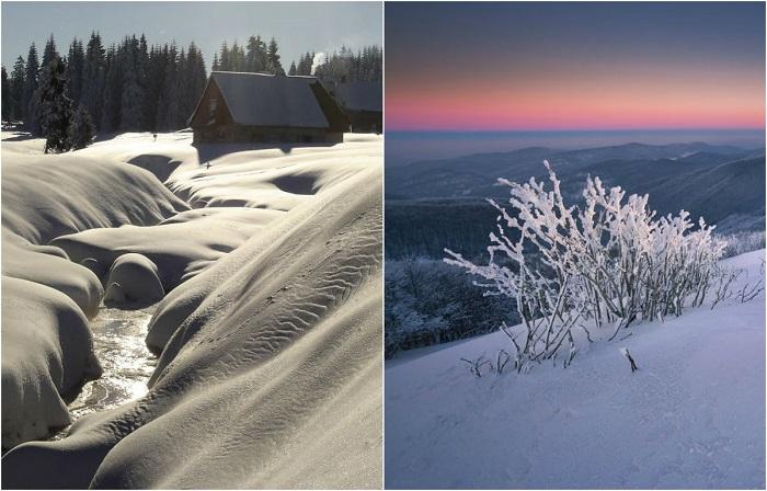 Завораживающие зимние пейзажи.