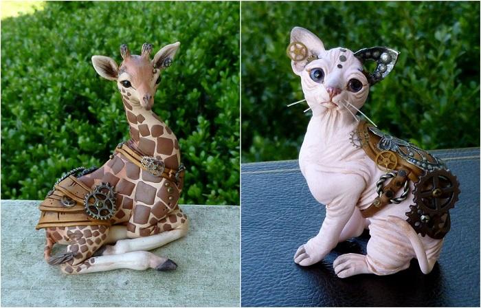 Фантастические творения из полимерной глины.