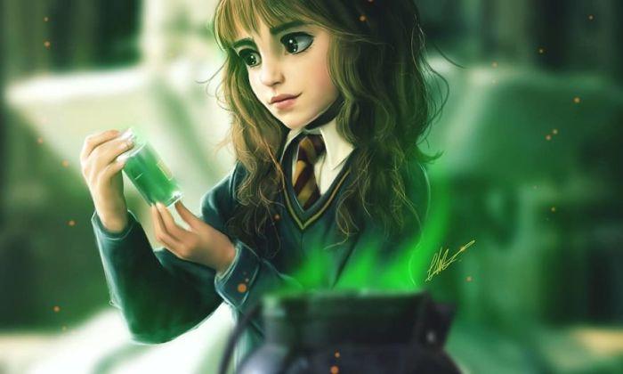 Талантливая молодая волшебница.