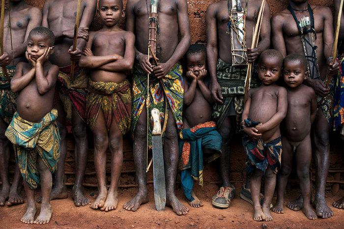 Подрастающее поколение народа Банту.