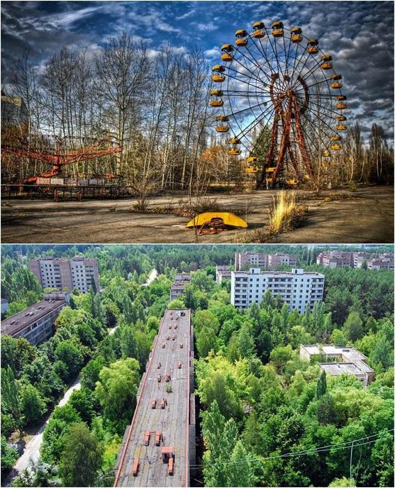 Заброшенный город, расположенный в нескольких километрах от Чернобыльской АЭС.