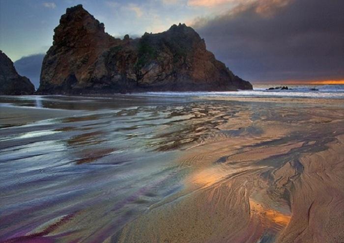 Пляж Пфайффер, Калифорния.