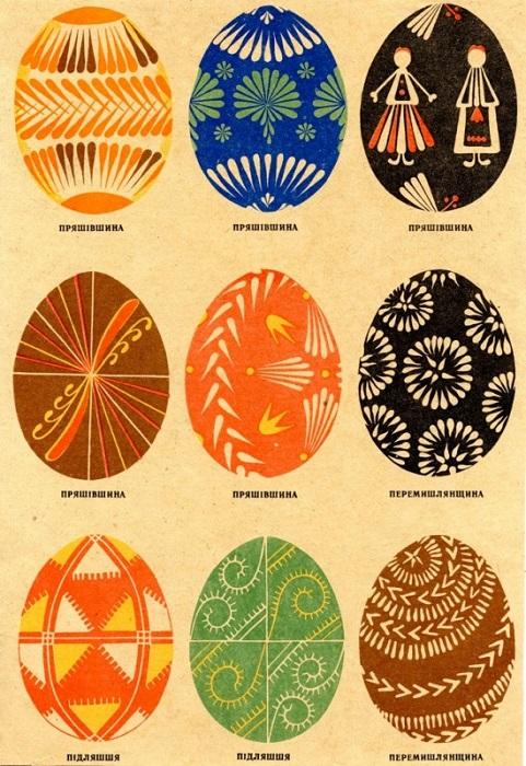 Крашенки с изображением цветов – символ девичества.