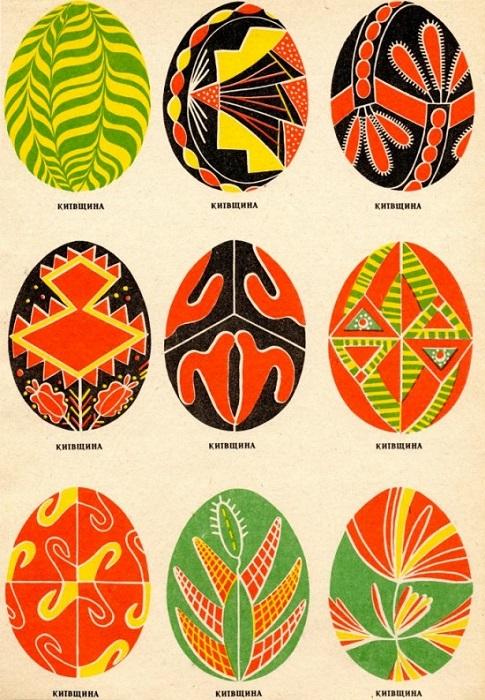 Такие расписанные яйца используются в качестве подарков.