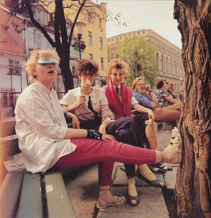 Модная рижская молодежь 80-х годов.