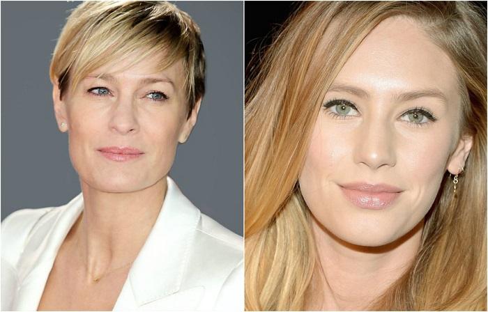 Всеми обожаемая Келли Кэпвелл из популярного в 90-е годы сериала «Санта-Барбара» Робин Райт и ее великолепная дочь Дилан Пенн.