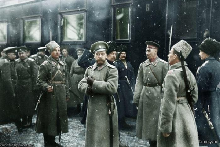 Прибытие последнего российского императора Николая II в расположение 1-й Армии.