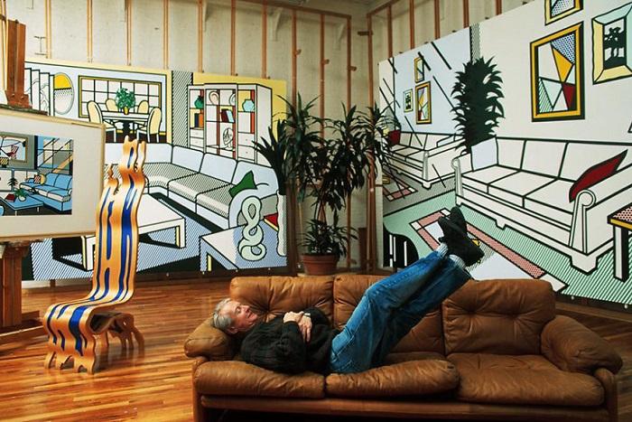 Студия американского художника, представителя поп-арта.