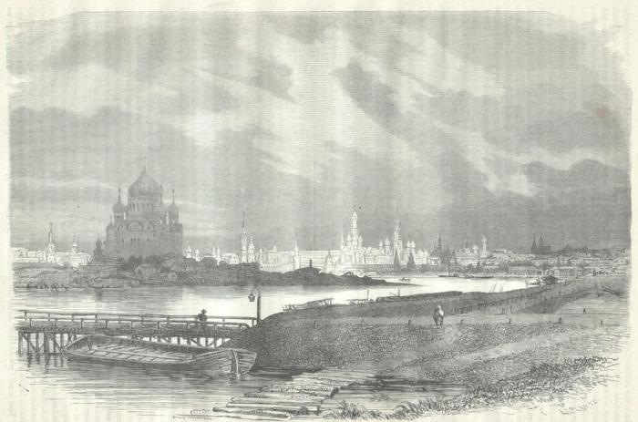 Вид Москвы с Воробьевых гор, 1825 год.
