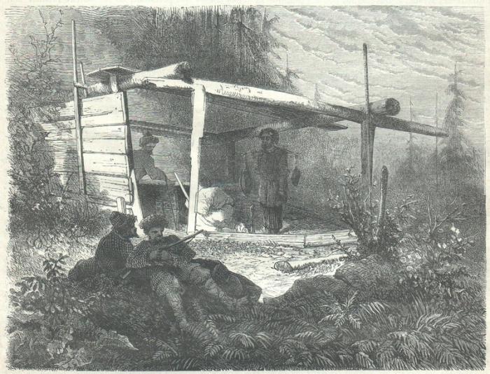 Тайный лагерь высоко в горах.