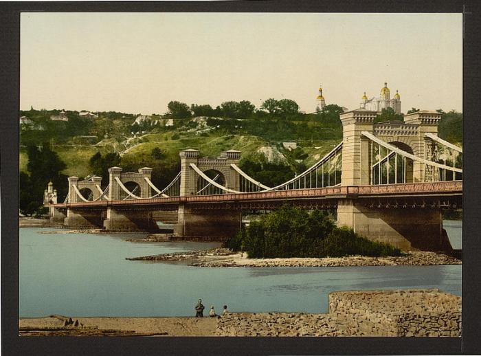 Первый постоянный мост через Днепр, Киев 1887 год.