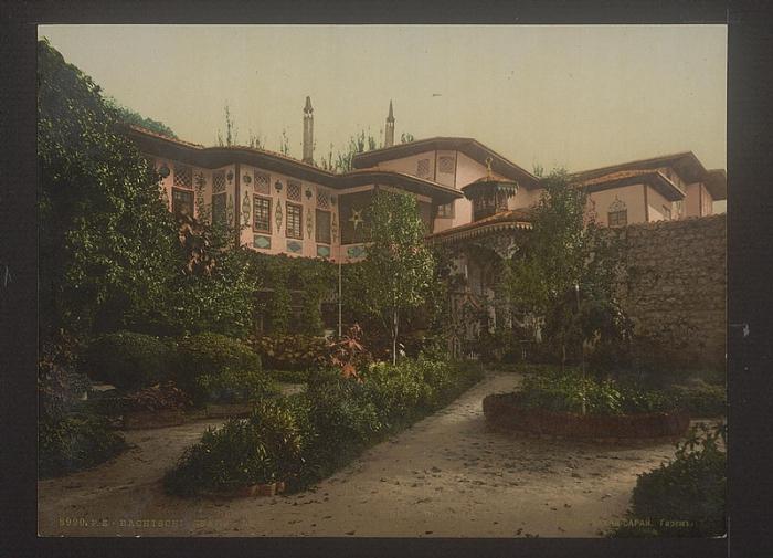 Сад ханского дворца, 1841 год.