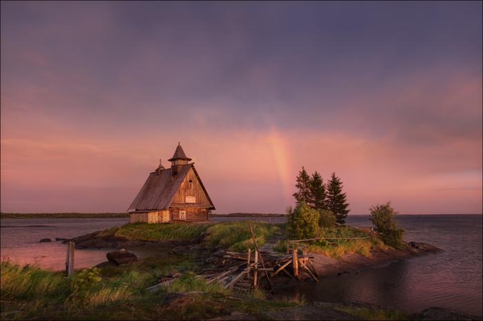 Розовый закат. Автор фотографии: Влад Соколовский.