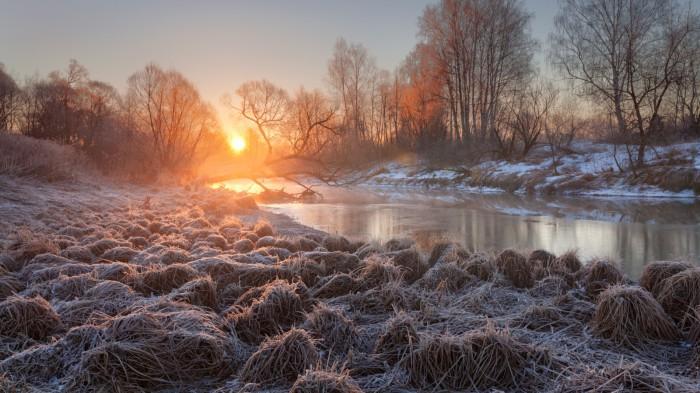 Утренний заморозок. Автор фотографии: Сергей Ершов.