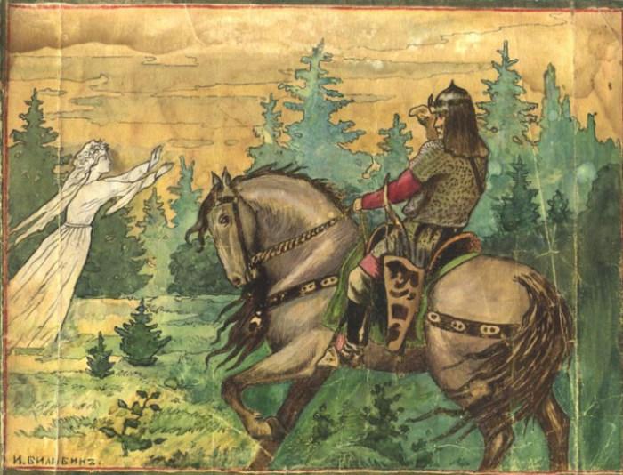 Известен в северно-русских былинах как красавец и змееборец.