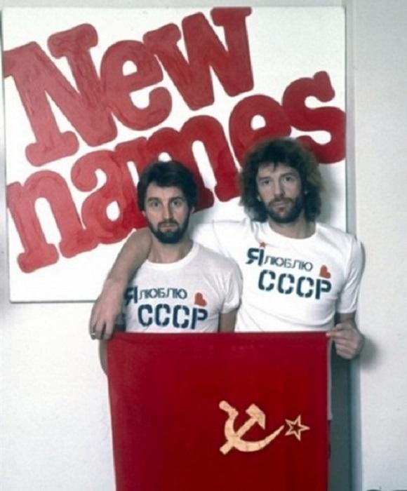 Молодые Леонид Ярмольник и Александр Абдулов.