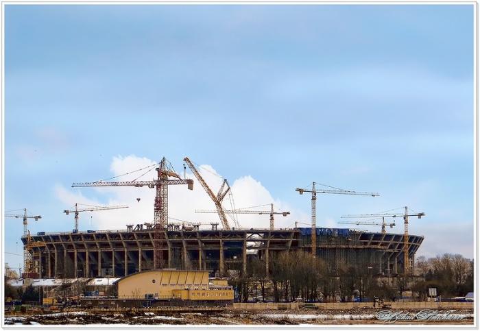 Будущая главная концертно-спортивная площадка Санкт-Петербурга.