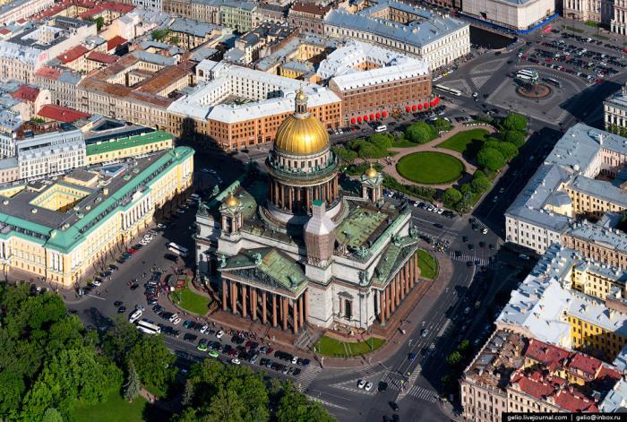 Санкт-Петербург с высоты птичьего полёта.