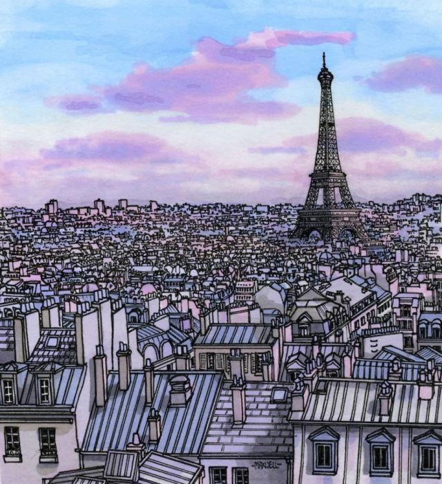 Самая узнаваемая архитектурная достопримечательность Парижа – Эйфелева башня, возвышающаяся над городскими крышами.