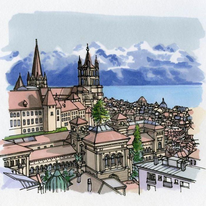 Готический собор, построенный еще в 13-м веке, является одной из главных достопримечательностей города и ценным архитектурным памятником.