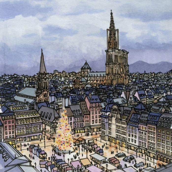 Знаменитый традиционный рождественский рынок в Страсбурге проводится с 1570 года.