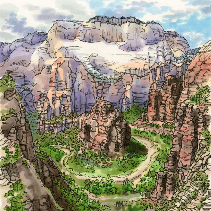 Знаменитые масштабные каньоны – главная достопримечательность парка, привлекающая множество иностранных туристов.