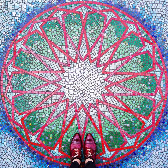 Удивительный мозаичный пол.
