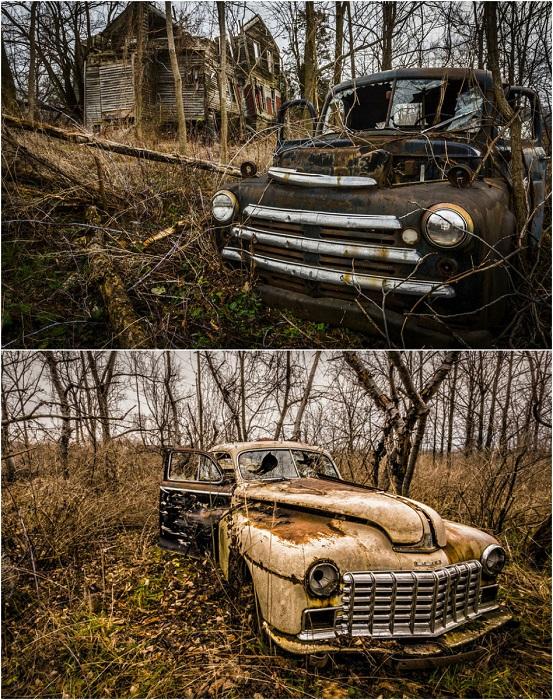 Кладбище старинных автомобилей.