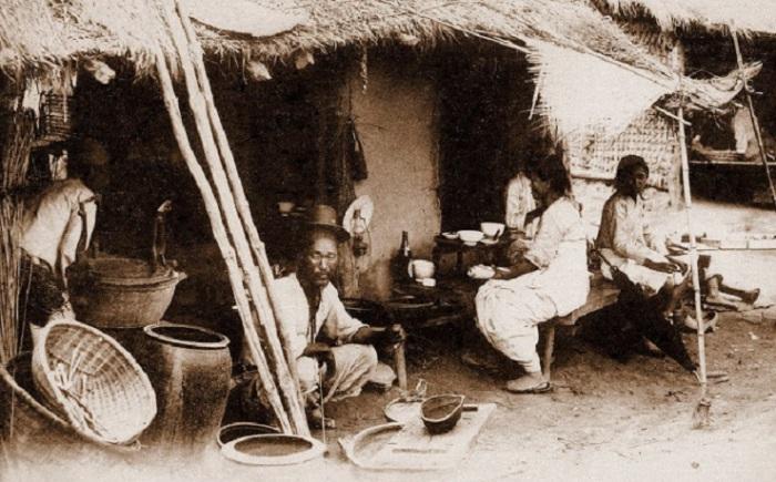 Уличный общепит, 1900 год.