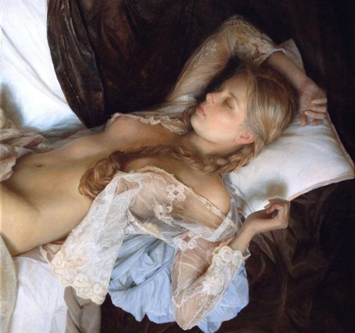 Картины женского очарования живописи.
