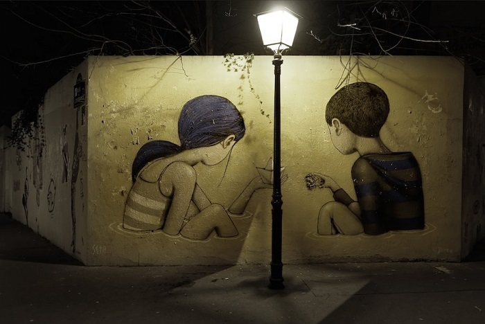 Стрит-арт Жюльена Мело (Julien Malland).