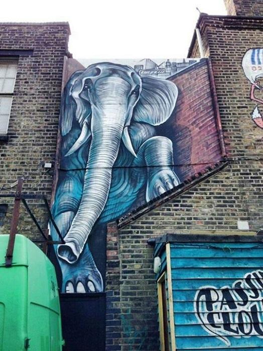 Стрит-арт Шона Бернера из Лондона, Англия.