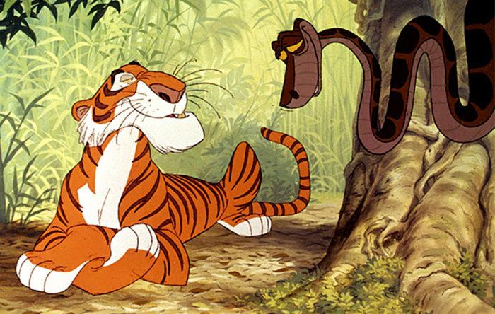 Бенгальский тигр-людоед и Каа.