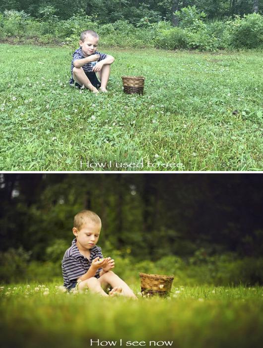 При внимательном рассмотрении сравнительных фотографий становится заметно, что для получения хорошего снимка необходимо было изменить перспективу, освещение и фокусировку.