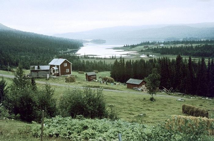 Цветные ретро-фотографии Швеции.