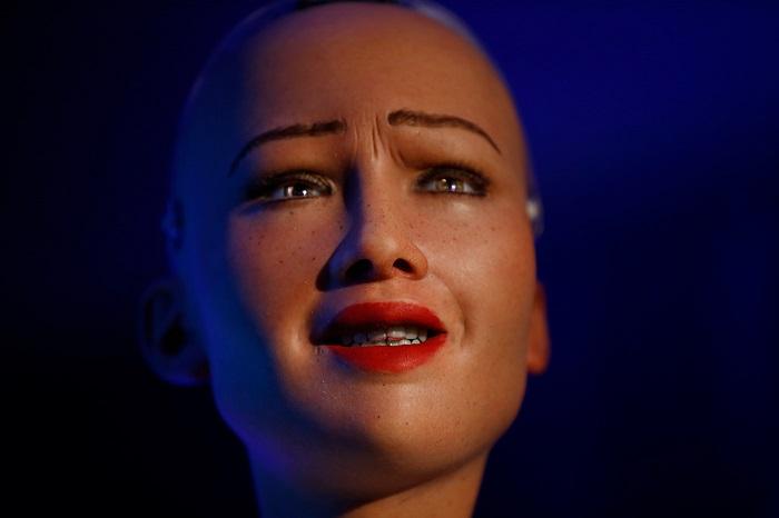 Робот София выступила на конференции Организации Объединенных Наций в Катманду.