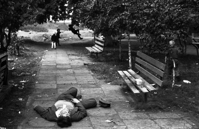 Утро Дня шахтёра. Новокузнецк, Кемеровская область, 1983 год.