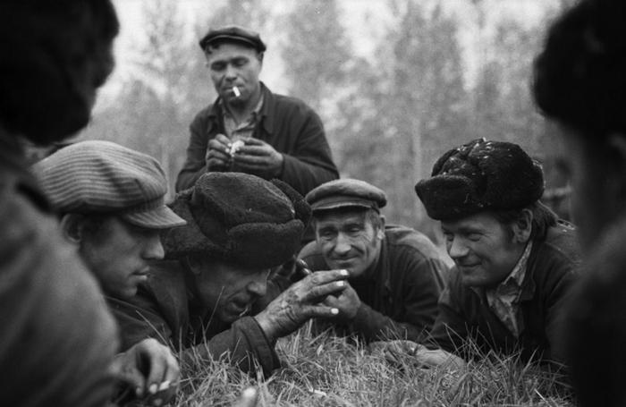 Совхоз «Еланский», Новокузнецкий район, 17 мая 1979 года. Во время посевной обед механизаторам привозится прямо в поле.